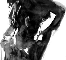 she put her hair up by Loui  Jover