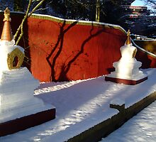Stupas-Winter by Dominic Brecken