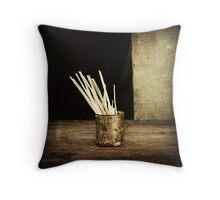 Composition with Tin #0101 Throw Pillow