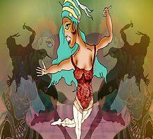 Dancer in the footlights by Grant Wilson