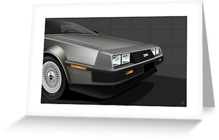 Delorean DMC-12 Poster by Autographics