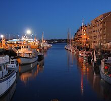 Portland wharf at night by Daniel Fosdike