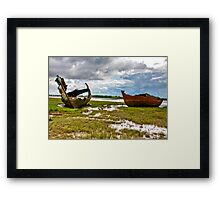 The Wrecks - Fleetwood Marsh Framed Print