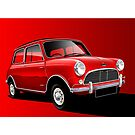 Austin Mini Cooper Illustration by Autographics