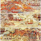 Minoan Miniature Frieze Admirals Flotilla Fresco Art by W. Sheppard Baird