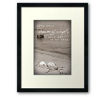 Angels Wings & Dreams Framed Print