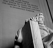 Lincoln Memorial, Black & White, Washington, D.C. by Michael Irrera