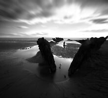 Berrow shipwreck by David Cooper