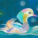 Mandarin Duck by AngelArtiste
