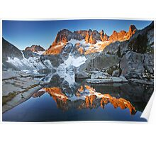 Iceberg Lake Sunrise Poster
