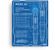 "Sonic Screwdriver ""Mark VII"" Poster Canvas Print"