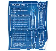 "Sonic Screwdriver ""Mark VII"" Poster Poster"