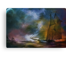 The meeting in the moonlight. Canvas Print