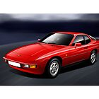 Porsche 924 Illustration by Autographics