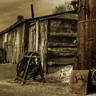 The boiler & the sheds  by Rob Hawkins
