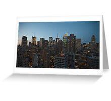 Manhattan in motion - uptown Greeting Card