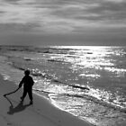 A Winter Walk on Grayton Beach by Judy Wanamaker