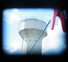 Watertower, peg and line - TTV, a first attempt. by Laura Kelk