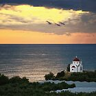 Crete, Church on the coast by fotowagner