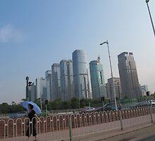 Shenzhen financial district, China by Chris Millar