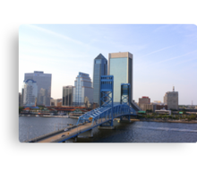 Blue Bridge Jacksonville Florida Canvas Print