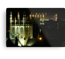 Trinity Cathedral and Progressive Field  Metal Print