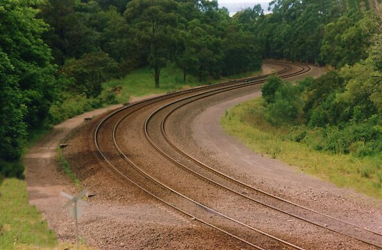 Winding Train Line by Michael John