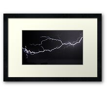 "6/8/2011 Electrical Storm, ""Lightning Strike # 3"" Framed Print"