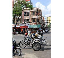 Cyclos (bicycle rickshaws), Ho Chi Minh City, Vietnam Photographic Print