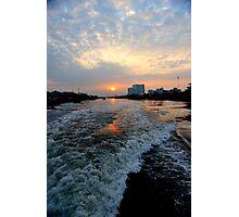 Sunrise over the Saigon River Photographic Print