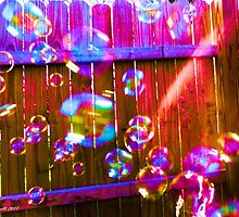 Excitement is in the Air - Colorful Bubbles by Barberelli