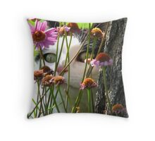 Hiding in the Daisies Throw Pillow
