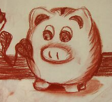 Cute Piggy Bank sketch by Starsania