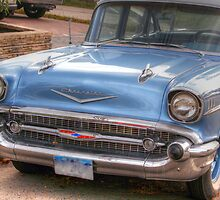 Old 1957 chevy-side front by henuly1