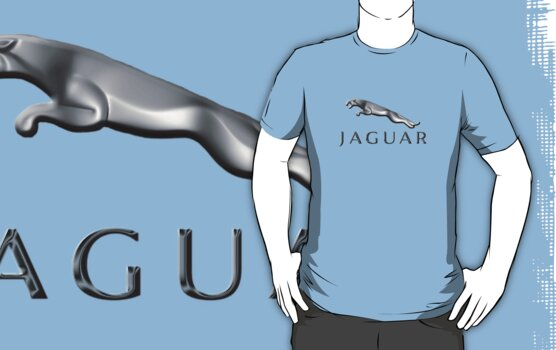 Jaguar car emblem T_shirt by Walter Colvin