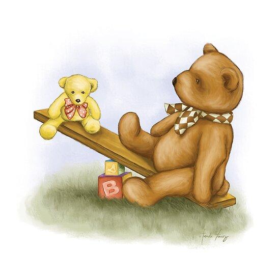 Teddy Seesaw by Amanda Francey