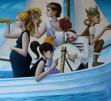 Boat People, oil on canvas, 2011 by fiona vermeeren