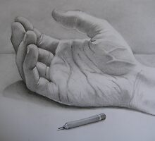 The hand that held the pencil.... by April Jarocka