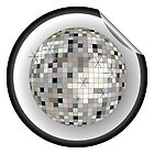 Disco ball black sticker by Laschon Robert Paul