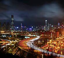 Kwai Chung a Clear Night by HKart