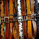 Leather belts for sale. by Sheldon Levis