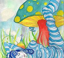 Smokin' caterpillar by bitsycabana