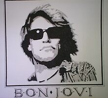 Ink & Pencil Image Of Jon Bon Jovi by chrisjh2210