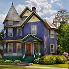 House - Victorian - Waterbury,VT - There lived an old lady who lived in a house by Mike  Savad