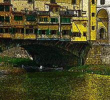 Under the Ponte Vecchio by Hal Bohner