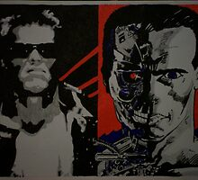 The Terminator In Ink & Pencil by chrisjh2210