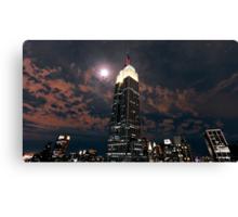 Empire state super moon Canvas Print