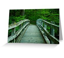 Bridge Over Silver Creek Greeting Card