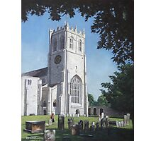 Christchurch priory,Dorset,west view Photographic Print
