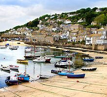 Mousehole Harbour by Christopher  Hotton